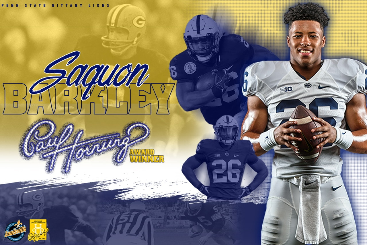 Congratulations to Saquon Barkley